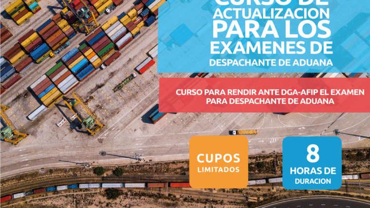 CURSO DE ACTUALIZACIÓN PARA LOS EXAMENES DE DESPCHANTE DE ADUANA